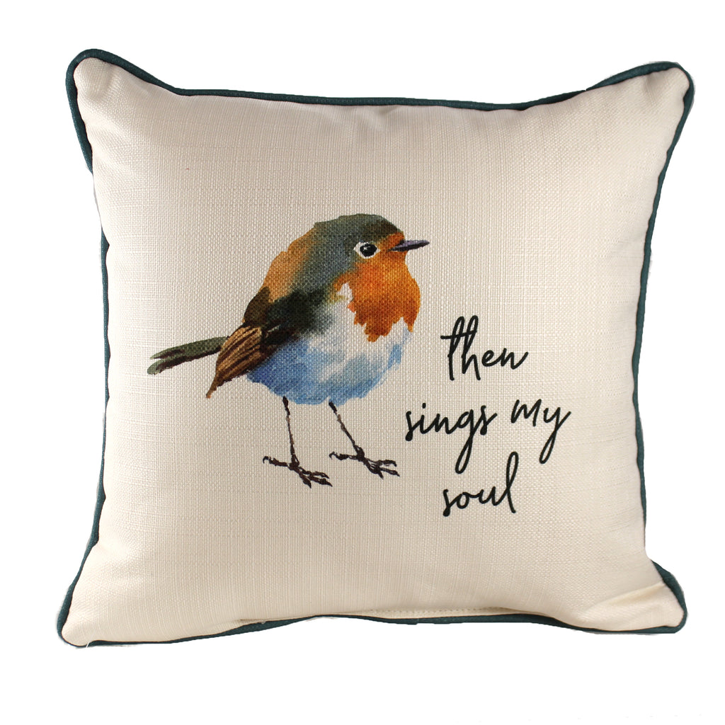 Then Sing My Soul Robin Pillow Txt0508 Home Decor Decorative Pillows - SBKGIFTS.COM - SBK Gifts Christmas Shop Cincinnati - Story Book Kids