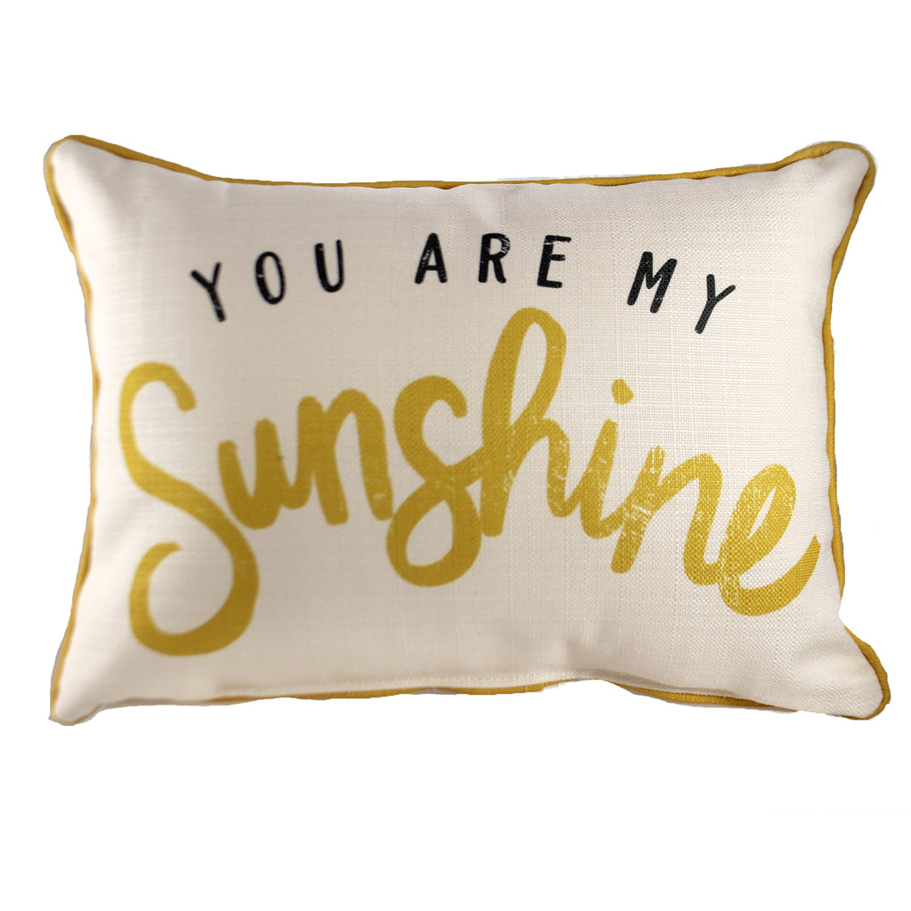 You Are My Sunshine Pillow Txt0379 Home Decor Decorative Pillows - SBKGIFTS.COM - SBK Gifts Christmas Shop Cincinnati - Story Book Kids