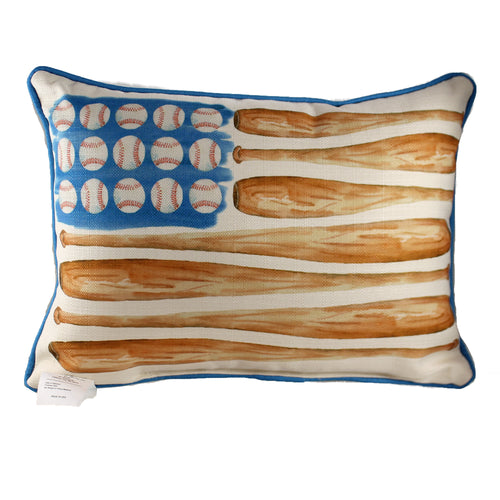 Baseball Flag Pillow Bb0003 Home Decor Decorative Pillows - SBKGIFTS.COM - SBK Gifts Christmas Shop Cincinnati - Story Book Kids