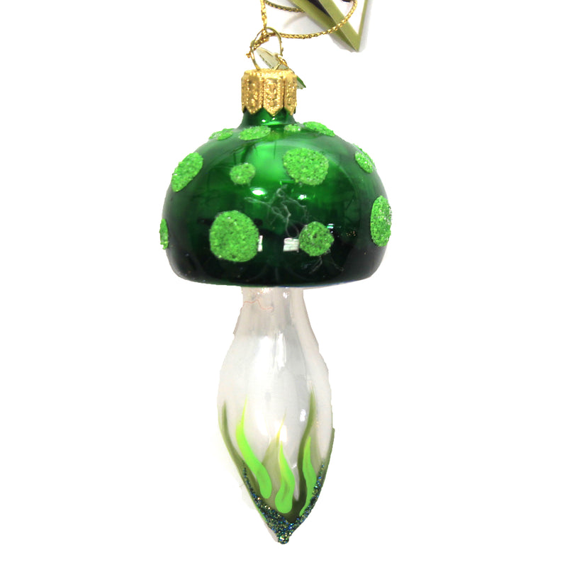 Green Mushroom 17713 Morawski Glass Ornaments - SBKGIFTS.COM - SBK Gifts Christmas Shop Cincinnati - Story Book Kids