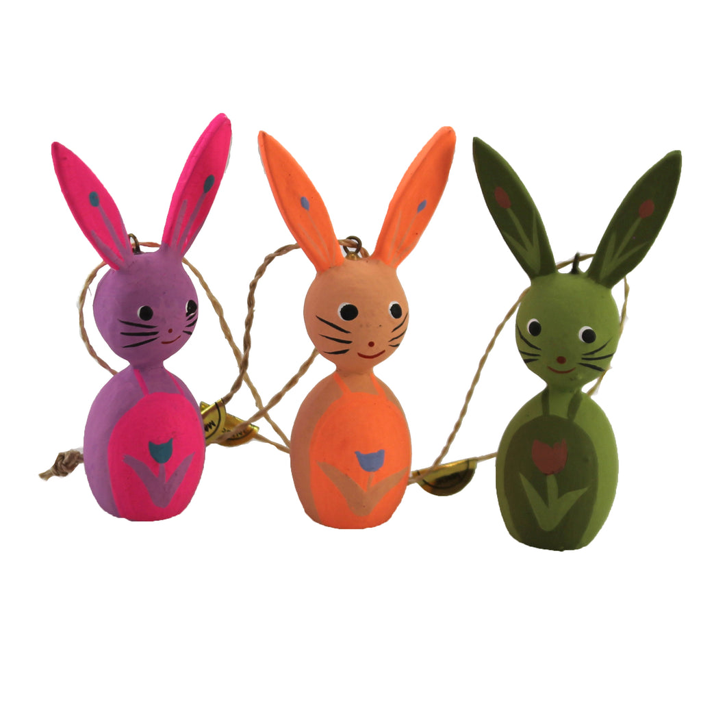 Springtime Rabbits Ro2100 Pink Holiday Ornament Wood Ornaments - SBKGIFTS.COM - SBK Gifts Christmas Shop Cincinnati - Story Book Kids
