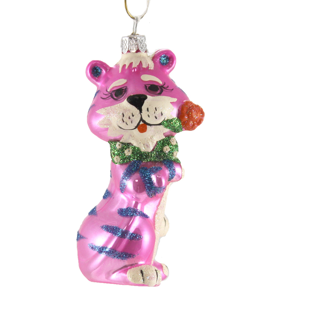 Retro Pink Tiger Go6384 Holiday Ornament Glass Ornaments - SBKGIFTS.COM - SBK Gifts Christmas Shop Cincinnati - Story Book Kids