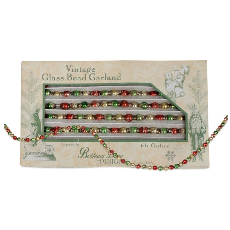 Gold Vintage Bead Garland Lg5641 Christmas Garlands And Tree Trimmings - SBKGIFTS.COM - SBK Gifts Christmas Shop Cincinnati - Story Book Kids