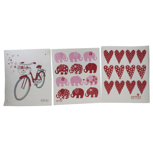 Heart Bicycle Elephant Dish 804160549 Swedish Dish Cloth Household Cleaning Cloth And Tool - SBKGIFTS.COM - SBK Gifts Christmas Shop Cincinnati - Story Book Kids
