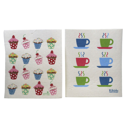 Cupcakes & Expresso Mugs 8041758 Swedish Dish Cloth Household Cleaning Cloth And Tool - SBKGIFTS.COM - SBK Gifts Christmas Shop Cincinnati - Story Book Kids