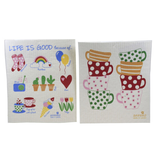 Sweetheart Mugs & Life Is Good 8045903 Swedish Dish Cloth Household Cleaning Cloth And Tool - SBKGIFTS.COM - SBK Gifts Christmas Shop Cincinnati - Story Book Kids