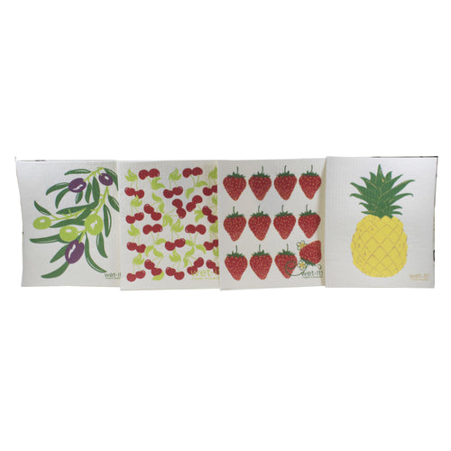 Fruit & Olive Branch W212*307*302*308 Swedish Dish Cloth Household Cleaning Cloth And Tool - SBKGIFTS.COM - SBK Gifts Christmas Shop Cincinnati - Story Book Kids