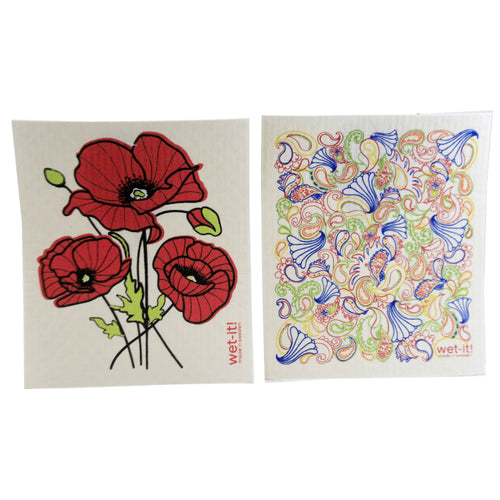 Poppy & Paisley Multi Cloth W1017*1001 Swedish Dish Cloth Household Cleaning Cloth And Tool - SBKGIFTS.COM - SBK Gifts Christmas Shop Cincinnati - Story Book Kids