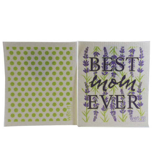 Best Mom Ever & Green Dots W1905*603 Swedish Dish Cloth Household Cleaning Cloth And Tool - SBKGIFTS.COM - SBK Gifts Christmas Shop Cincinnati - Story Book Kids