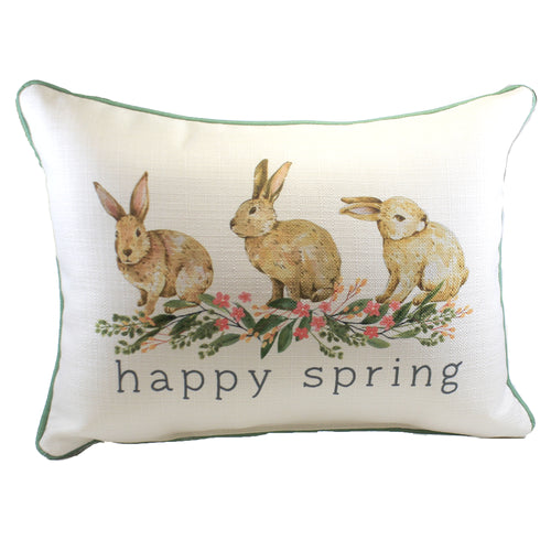 Happy Spring Bunnies Sea0045 Home Decor Decorative Pillows - SBKGIFTS.COM - SBK Gifts Christmas Shop Cincinnati - Story Book Kids