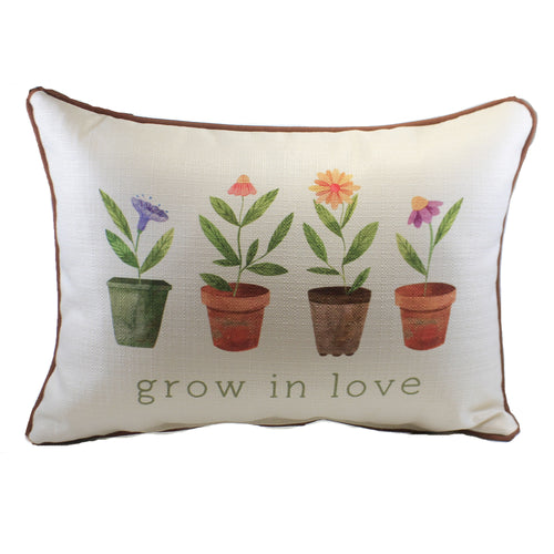 Grow In Love Pillow Txt0770 Home Decor Decorative Pillows - SBKGIFTS.COM - SBK Gifts Christmas Shop Cincinnati - Story Book Kids