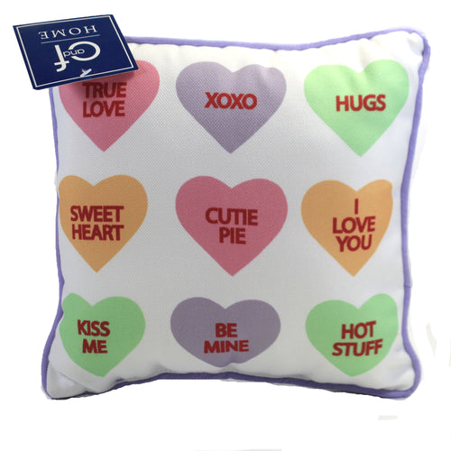 Conversation Hearts Pillow 812173186 Home Decor Decorative Pillows - SBKGIFTS.COM - SBK Gifts Christmas Shop Cincinnati - Story Book Kids