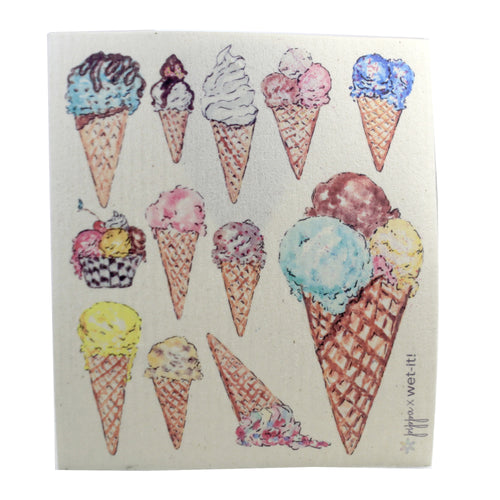 Ice Cream Cones Pw02 Swedish Dish Cloth Household Cleaning Cloth And Tool - SBKGIFTS.COM - SBK Gifts Christmas Shop Cincinnati - Story Book Kids