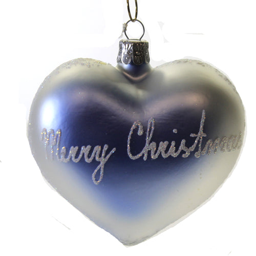 Love Dove On Blue Heart Luv032 Christina's World Glass Ornaments - SBKGIFTS.COM - SBK Gifts Christmas Shop Cincinnati - Story Book Kids