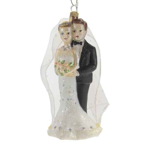Wedding Couple Luv049 Male/Female Christina's World Glass Ornaments - SBKGIFTS.COM - SBK Gifts Christmas Shop Cincinnati - Story Book Kids