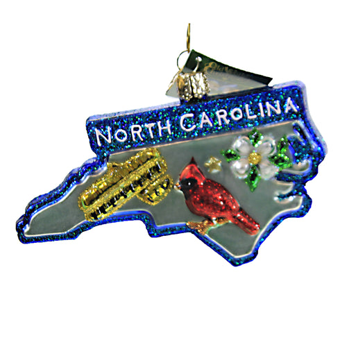 State Of North Carolina 36296 Old World Christmas Glass Ornaments - SBKGIFTS.COM - SBK Gifts Christmas Shop Cincinnati - Story Book Kids