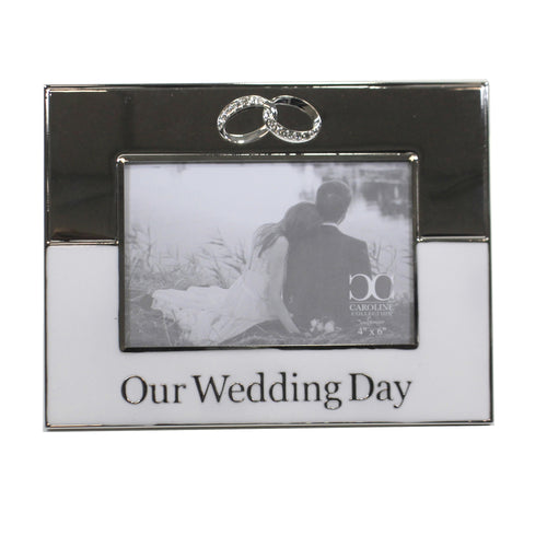 Our Wedding Day Photo Frame 19299 Home Decor Frames - SBKGIFTS.COM - SBK Gifts Christmas Shop Cincinnati - Story Book Kids
