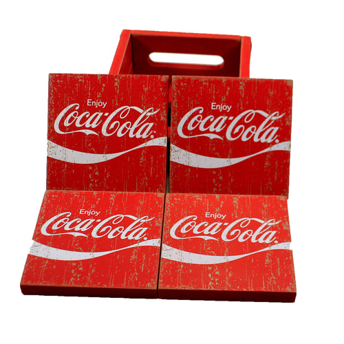 Coca Cola Coasters W/Holder A5023 Tabletop Coasters - SBKGIFTS.COM - SBK Gifts Christmas Shop Cincinnati - Story Book Kids