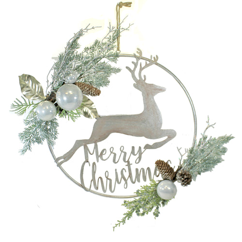 Deer Metal Ring 3800403 Christmas Wall Decor And Hanging Decor - SBKGIFTS.COM - SBK Gifts Christmas Shop Cincinnati - Story Book Kids