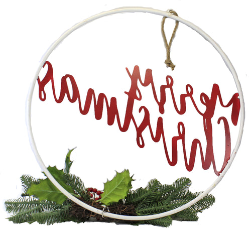 Hanging Merry Christmas Ring 3800424 Christmas Wall Decor And Hanging Decor - SBKGIFTS.COM - SBK Gifts Christmas Shop Cincinnati - Story Book Kids