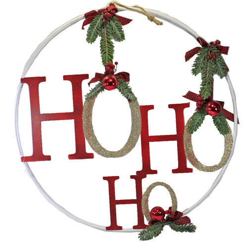 Ho Ho Ho Hanging Ring 3800465 Christmas Wall Decor And Hanging Decor - SBKGIFTS.COM - SBK Gifts Christmas Shop Cincinnati - Story Book Kids