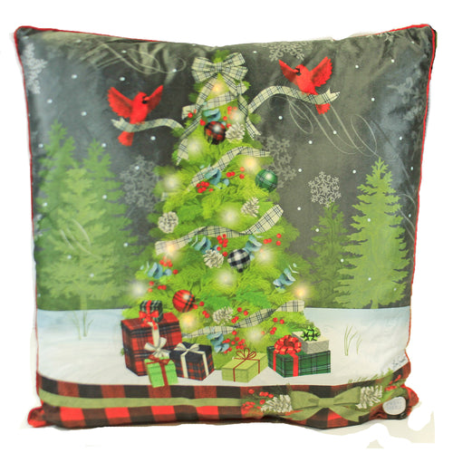 Christmas Tree Memories LED Pillow 86144161 Christmas Decorative Pillows - SBKGIFTS.COM - SBK Gifts Christmas Shop Cincinnati - Story Book Kids