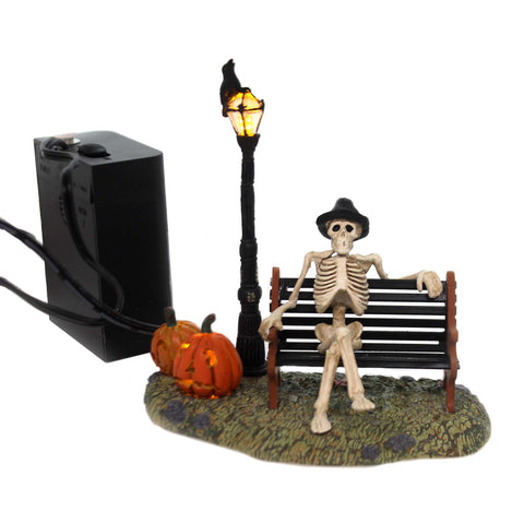 Department 56 Accessory RESTING MY BONES Polyresin Halloween 53146 5105