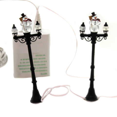 Department 56 Accessory SNOWMAN STREET LIGHTS General Village Lighted 53189 5222