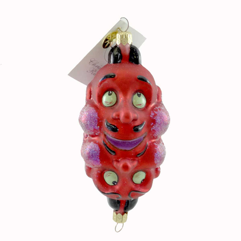 Christopher Radko Double Crosser Halloween Glass Ornament