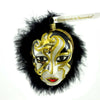 Ornaments To Remember Person Mask Glass Ornament