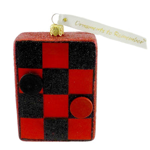 Ornaments To Remember Checker Board Glass Ornament