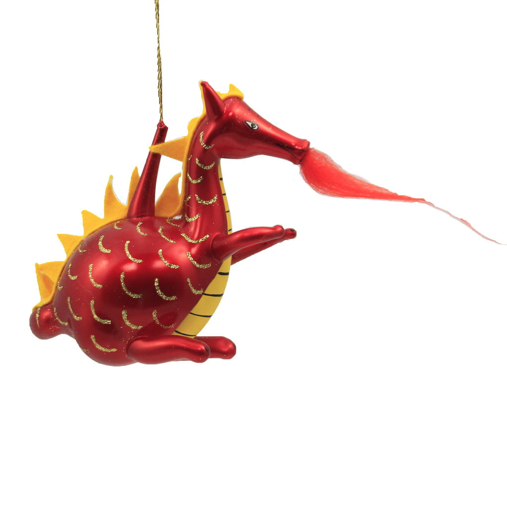 Dragon With Wings A2736 De Carlini Glass Ornaments - SBKGIFTS.COM - SBK Gifts Christmas Shop Cincinnati - Story Book Kids