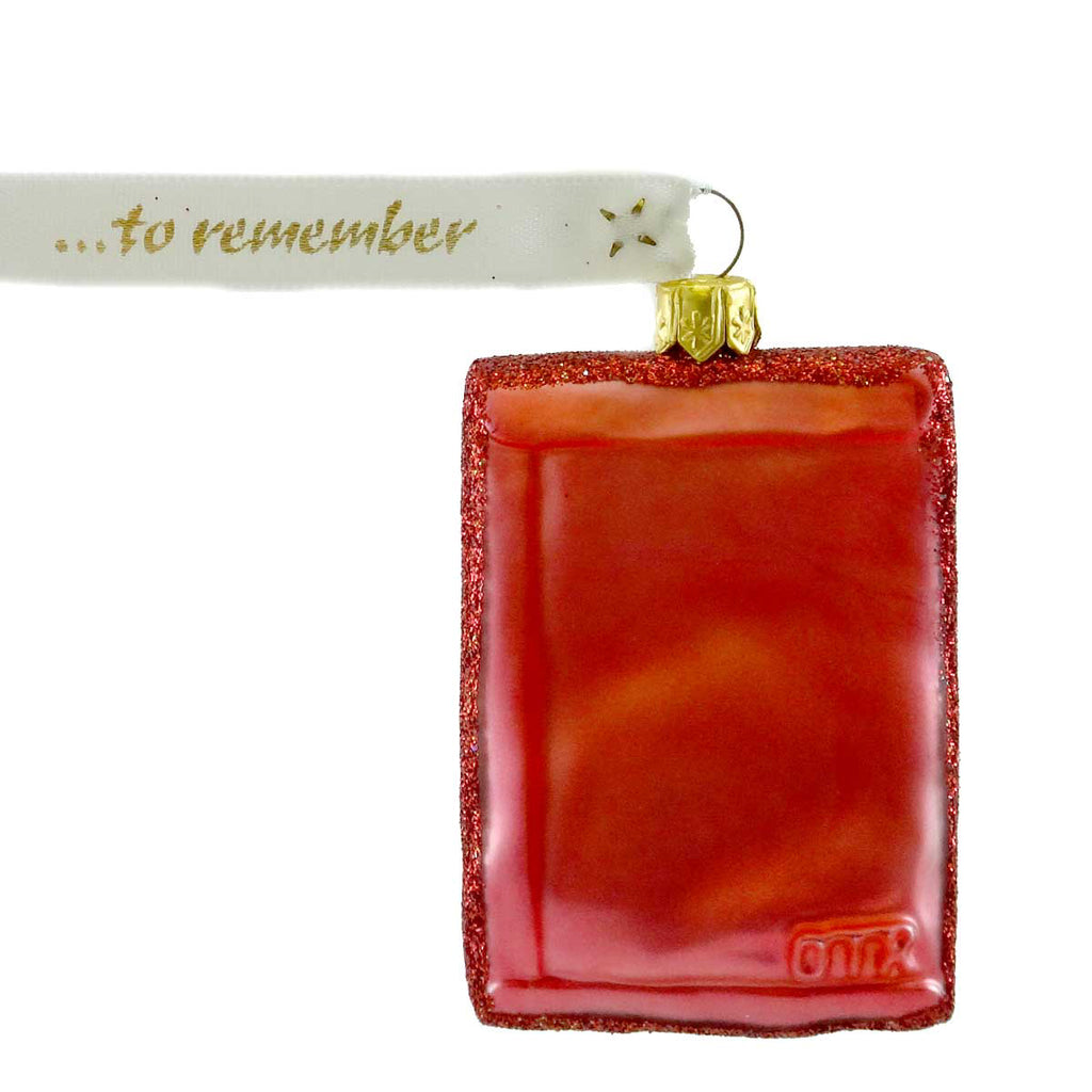 Ornaments To Remember Scarlet Flax Seed Packet Glass Ornament