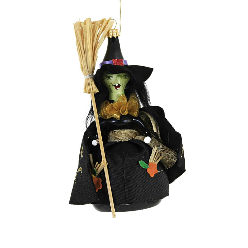 De Carlini WITCH Glass Ornament Halloween Italian Do7241