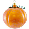 De Carlini Pumpkin Face Halloween Glass Ornament