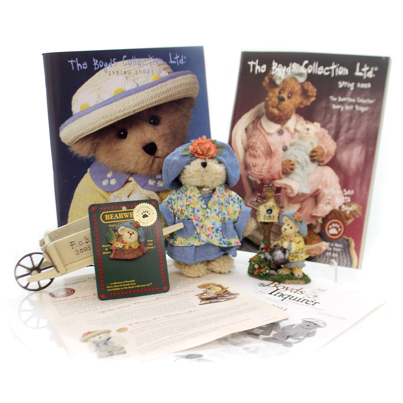Boyds Bears Resin 2003 Fob Club Kit Box Set