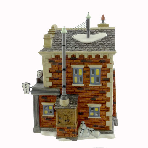 Dept 56 Buildings Colonial Post & Telegraph Village Lighted Building