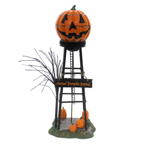Department 56 Accessory HALLOWEEN WATER TOWER Polyresin Pumpkin Festival 53223 6522