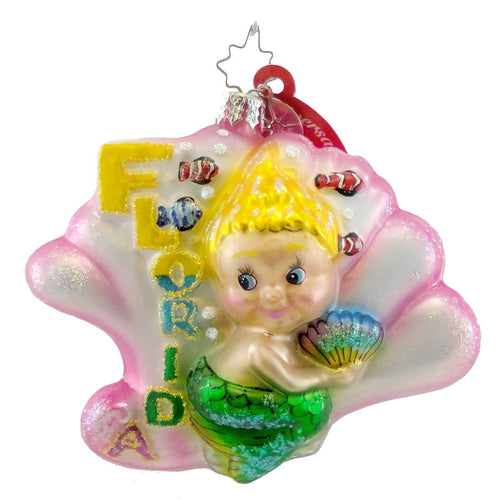 Christopher Radko Shelly Summers Glass Ornament