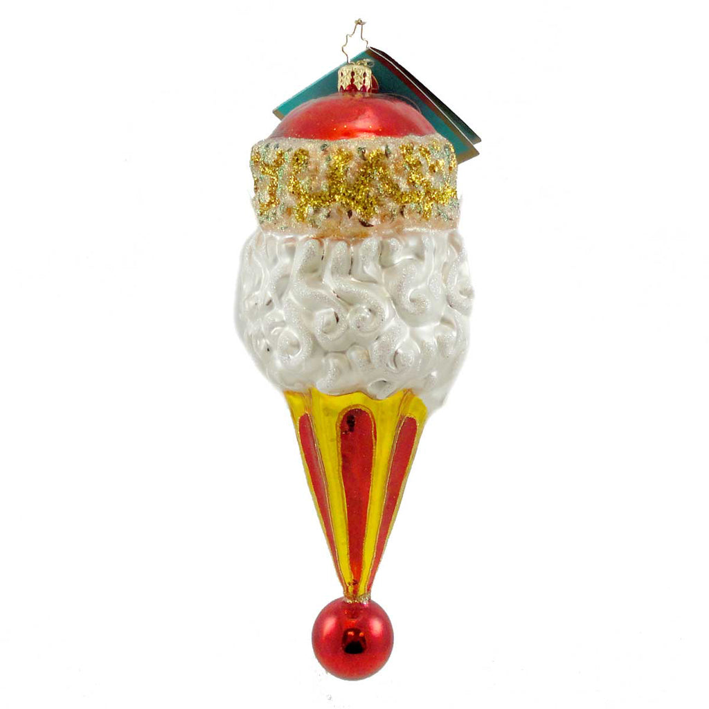 Christopher Radko Cossack Cone Glass Ornament