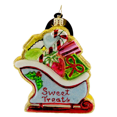 Christopher Radko SLEIGHFUL O'SWEETS Blown Glass Ornament Christmas Cookie 7567