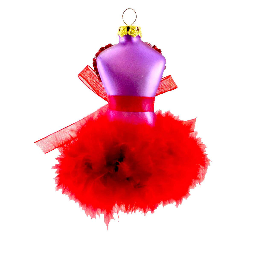 Cherry Designs Red Mannequin Glass Ornament