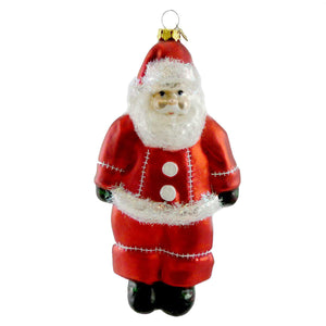 Cherry Designs Santa Ornament Glass Ornament