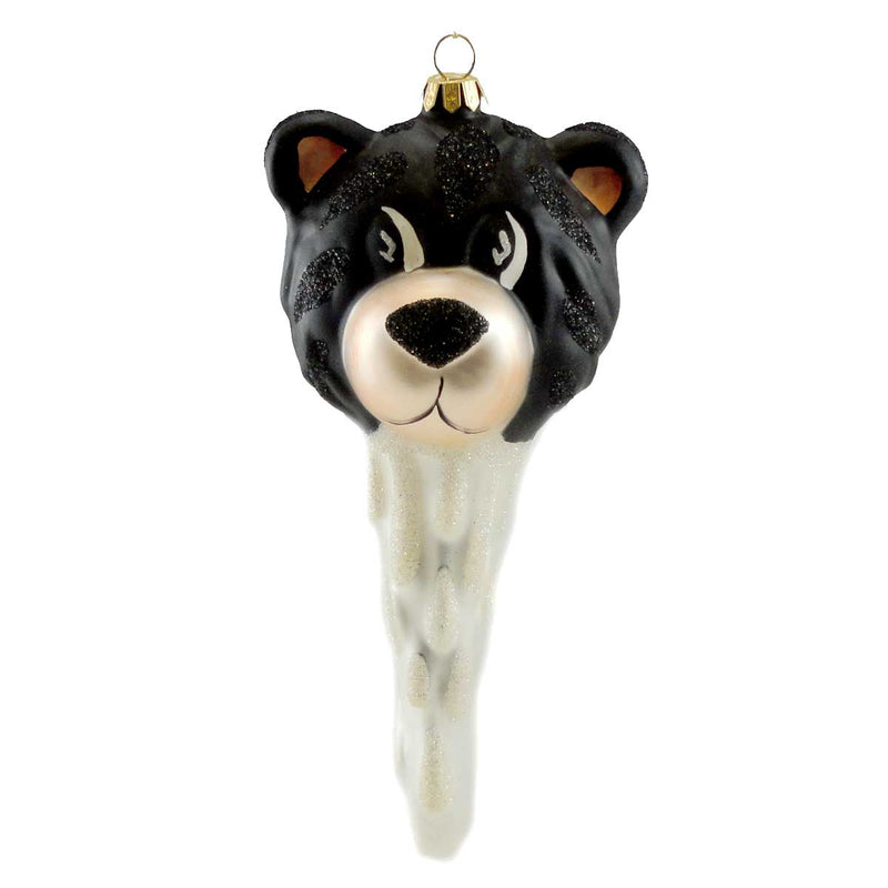 Cherry Designs Bear Cicle Glass Ornament