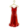 Holiday Ornament Red Dress Glass Ornament