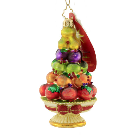 Christopher Radko Healthy Holiday Glass Ornament 8062