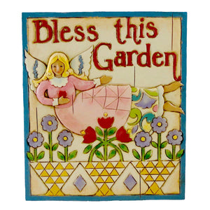 Jim Shore Angel Garden Plaque Sign / Plaque