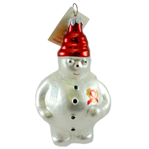 Christopher Radko Frosty Cares Glass Ornament 8884