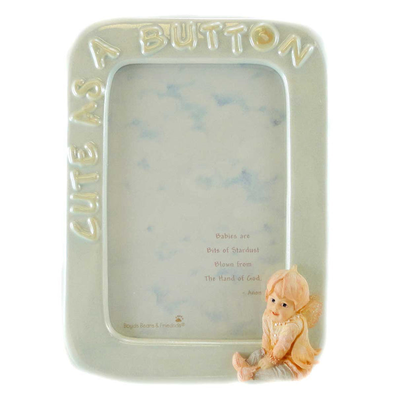 Boyds Bears Resin Bashful Cute As A Button Frame