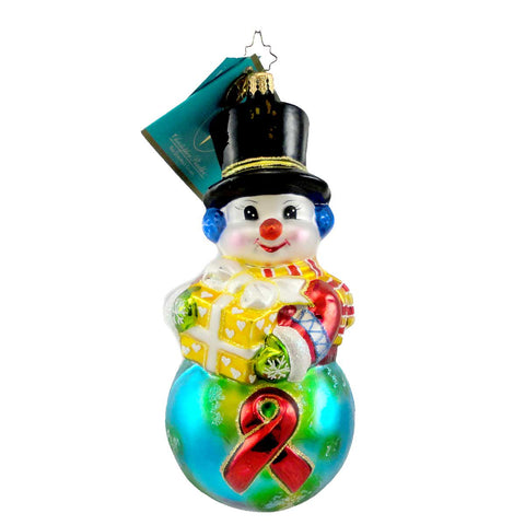 Christopher Radko Global Concern Glass Ornament 942